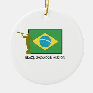 ブラジルサルバドルの代表団LDS セラミックオーナメント