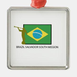 ブラジルサルバドルの南代表団LDS メタルオーナメント