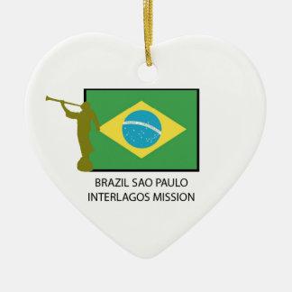 ブラジルサンパウロINTERLAGOSの代表団LDS セラミックオーナメント