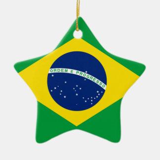 ブラジルブラジルの旗 セラミックオーナメント