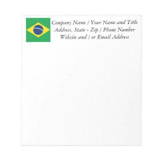 ブラジルブラジルの旗 ノートパッド