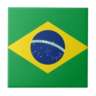 ブラジルブラジルの旗 正方形タイル小