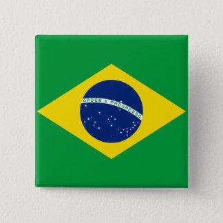 ブラジルブラジルの旗 缶バッジ