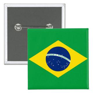 ブラジルブラジルの旗 5.1CM 正方形バッジ