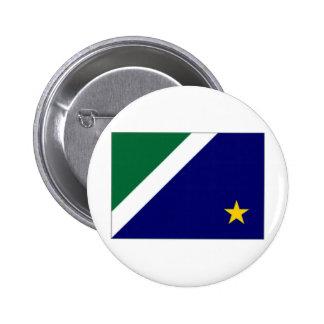 ブラジルマットグロッソ・ド・スル州の旗 5.7CM 丸型バッジ