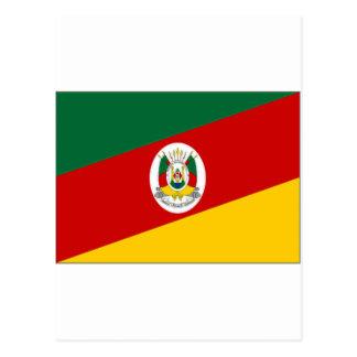ブラジルリオグランデ・ド・スル州の旗 ポストカード