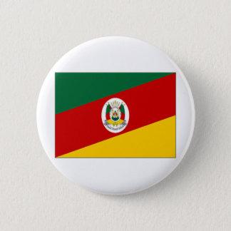 ブラジルリオグランデ・ド・スル州の旗 缶バッジ