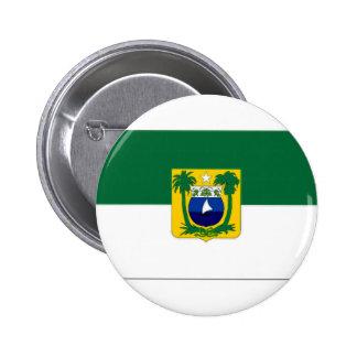 ブラジルリオグランデ・ド・ノルテ州の旗 5.7CM 丸型バッジ
