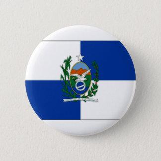 ブラジルリオデジャネイロの旗 缶バッジ