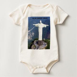 ブラジルリオデジャネイロイエス・キリスト(新しい) (St.K) ベビーボディスーツ