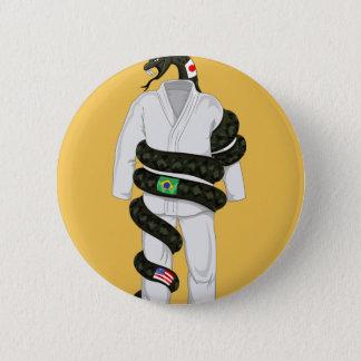 ブラジル人のJiu Jitsuのヘビ 5.7cm 丸型バッジ