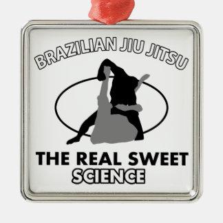 ブラジル人のJiu Jitsuの武道 メタルオーナメント