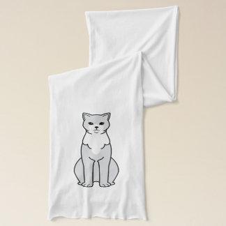 ブラジル人のShorthair猫の漫画 スカーフ