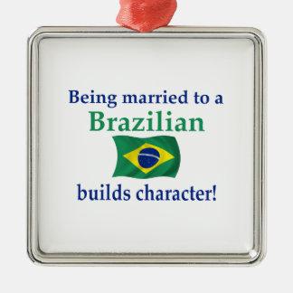 ブラジル人はキャラクターを造ります メタルオーナメント