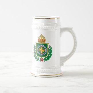 ブラジル帝国紋章付き外衣 ビールジョッキ