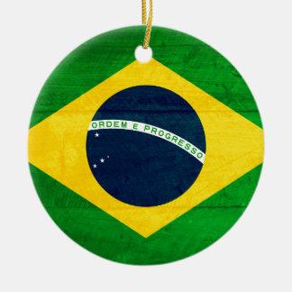 ブラジル木旗 セラミックオーナメント