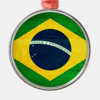 ブラジル木旗 メタルオーナメント