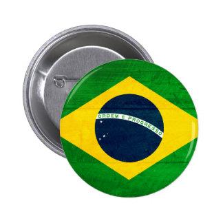 ブラジル木旗 5.7CM 丸型バッジ