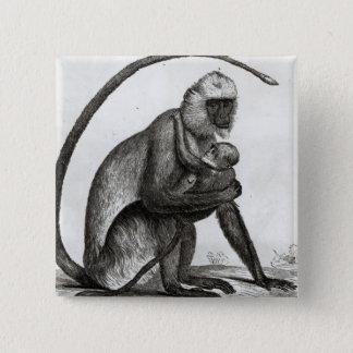 ブラジル猿 5.1CM 正方形バッジ
