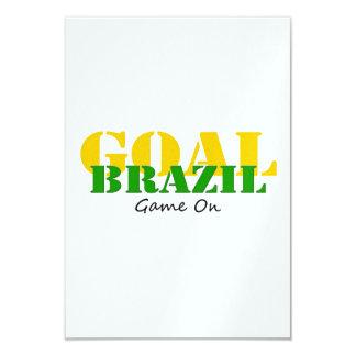 ブラジル-ゴールのゲーム カード