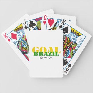 ブラジル-ゴールのゲーム バイスクルトランプ