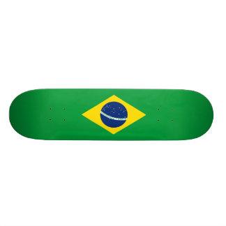 ブラジル-ブラジルの国旗 21.6CM スケートボードデッキ