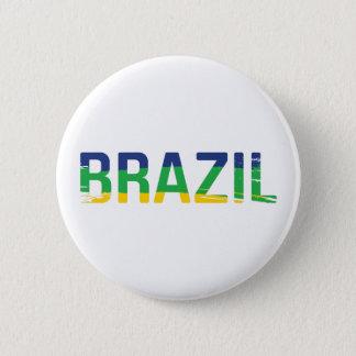 ブラジル-ブラジル 5.7CM 丸型バッジ