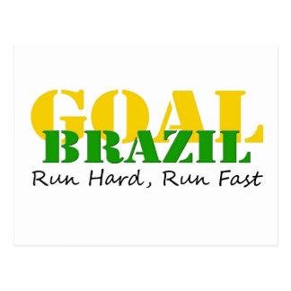 ブラジル-操業懸命は速く走ります ポストカード