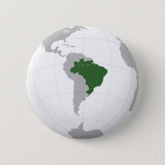 ブラジル(正投影) 5.7CM 丸型バッジ