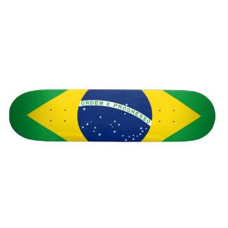 ブラジル、正確な割合色の国旗 21.6CM オールドスクールスケートボードデッキ