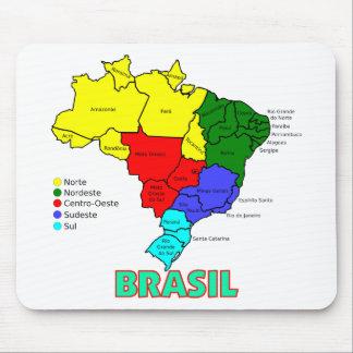 ブラジル。 色の地域 マウスパッド