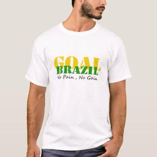 ブラジル-苦痛無し利益無し Tシャツ
