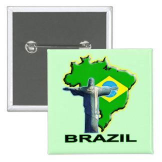 ブラジル 5.1CM 正方形バッジ