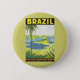 ブラジル 5.7CM 丸型バッジ