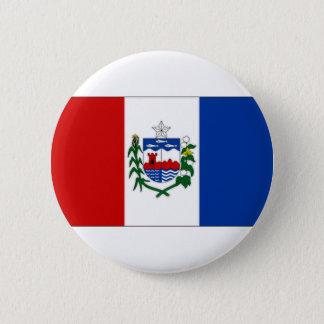 ブラジルAlagoasの旗 缶バッジ