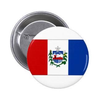 ブラジルAlagoasの旗 5.7cm 丸型バッジ