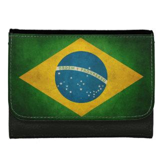 ブラジルBandeiraのグランジな旗はブラジルをします ウォレット