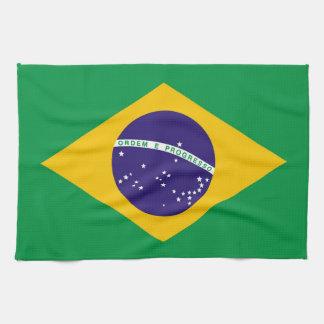 ブラジルBandeiraの旗はブラジルをします キッチンタオル