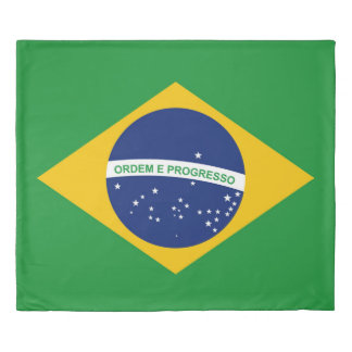 ブラジルBandeiraの旗はブラジルをします 掛け布団カバー