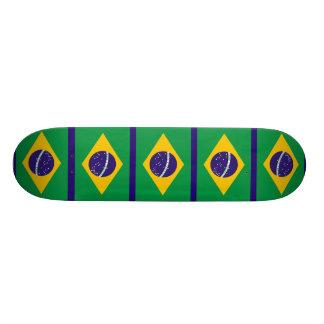 ブラジルBandeiraの旗はブラジルをします 18.1cm オールドスクールスケートボードデッキ