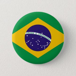 ブラジルBandeiraの旗はブラジルをします 5.7cm 丸型バッジ