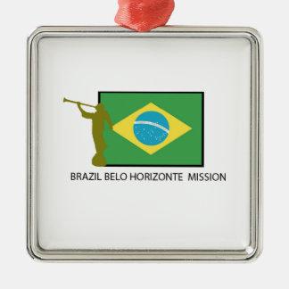 ブラジルBELO HORIZONTEの代表団LDS メタルオーナメント