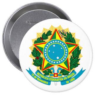 ブラジルCOA 10.2CM 丸型バッジ