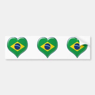 ブラジルCORAÇÃO バンパーステッカー
