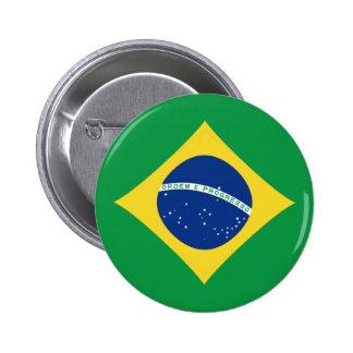 ブラジルFisheyeの旗ボタン 5.7cm 丸型バッジ