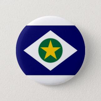 ブラジルMato Grossoの旗 缶バッジ