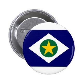 ブラジルMato Grossoの旗 5.7cm 丸型バッジ