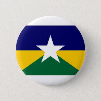 ブラジルRondoniaの旗 缶バッジ