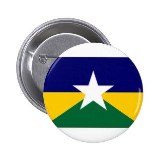 ブラジルRondoniaの旗 5.7cm 丸型バッジ