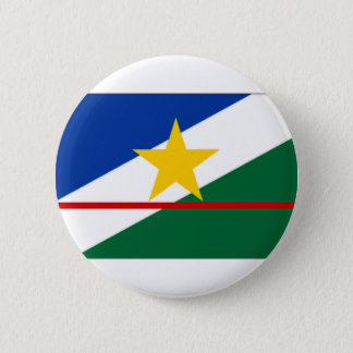 ブラジルRoraimaの旗 缶バッジ